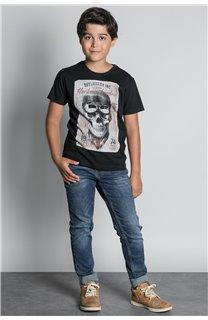 T-Shirt CLEM Garçon W20196B (55093) - DEELUXE