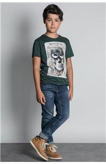 T-Shirt CLEM Garçon W20196B (55098) - DEELUXE