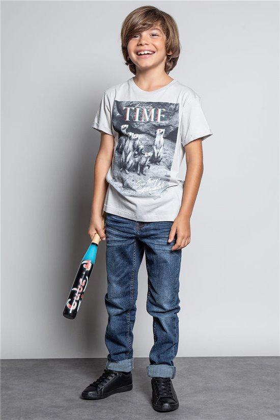 T-Shirt T-SHIRT SURICATE Garçon W20150B (55298) - DEELUXE