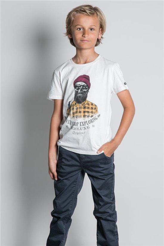 T-Shirt T-SHIRT TELLSON Garçon W20156B (55348) - DEELUXE