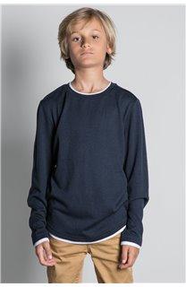 T-Shirt T-SHIRT HANSONER Garçon W20174B (55365) - DEELUXE