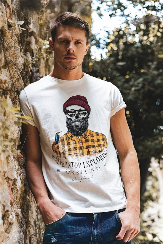 T-Shirt T-SHIRT TELLSON Homme W20156M (55573) - DEELUXE