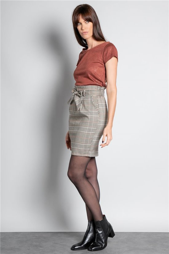 T-Shirt T-SHIRT GLITTER Femme W20118W (55655) - DEELUXE