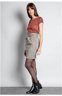 T-Shirt T-SHIRT GLITTER Femme W20118W (55656) - DEELUXE