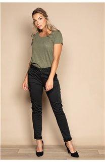 T-Shirt T-SHIRT GLITTER Femme W20118W (55665) - DEELUXE