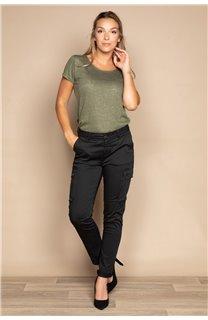T-Shirt T-SHIRT GLITTER Femme W20118W (55666) - DEELUXE