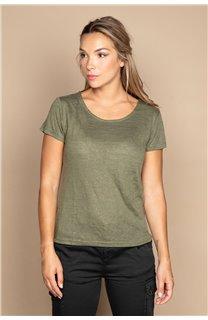 T-Shirt T-SHIRT GLITTER Femme W20118W (55667) - DEELUXE