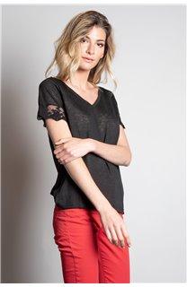 T-Shirt T-SHIRT DIVINE Femme W20122W (55690) - DEELUXE