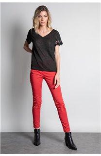 T-Shirt T-SHIRT DIVINE Femme W20122W (55691) - DEELUXE