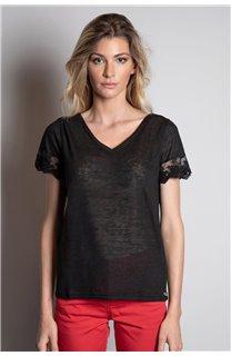 T-Shirt T-SHIRT DIVINE Femme W20122W (55692) - DEELUXE