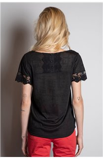 T-Shirt T-SHIRT DIVINE Femme W20122W (55693) - DEELUXE