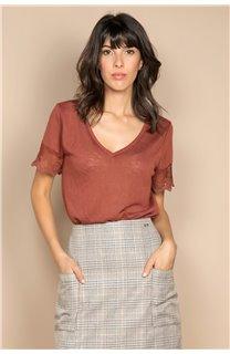 T-Shirt T-SHIRT DIVINE Femme W20122W (55696) - DEELUXE