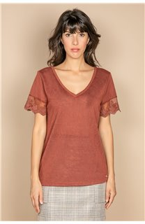 T-Shirt T-SHIRT DIVINE Femme W20122W (55698) - DEELUXE