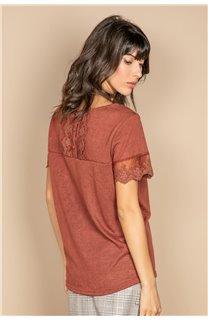 T-Shirt T-SHIRT DIVINE Femme W20122W (55699) - DEELUXE