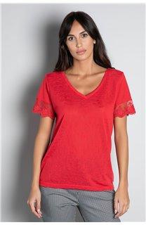 T-Shirt T-SHIRT DIVINE Femme W20122W (55702) - DEELUXE