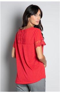 T-Shirt T-SHIRT DIVINE Femme W20122W (55703) - DEELUXE