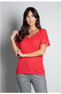 T-Shirt T-SHIRT DIVINE Femme W20122W (55704) - DEELUXE