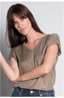 T-Shirt T-SHIRT BELI Femme W20108W (55749) - DEELUXE