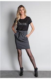 T-Shirt T-SHIRT PARIS Femme W20117W (55805) - DEELUXE