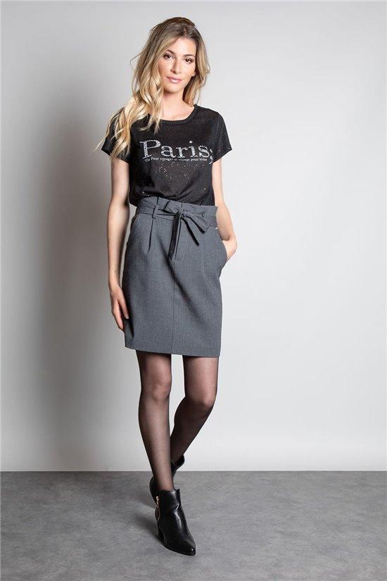 T-Shirt PARIS Femme W20117W (55810) - DEELUXE
