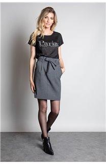 T-Shirt T-SHIRT PARIS Femme W20117W (55806) - DEELUXE