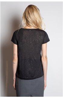 T-Shirt T-SHIRT PARIS Femme W20117W (55808) - DEELUXE