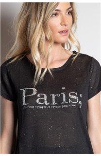 T-Shirt T-SHIRT PARIS Femme W20117W (55809) - DEELUXE