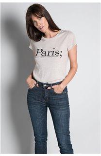 T-Shirt T-SHIRT PARIS Femme W20117W (55810) - DEELUXE