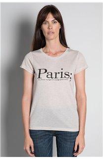 T-Shirt T-SHIRT PARIS Femme W20117W (55812) - DEELUXE