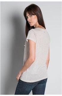 T-Shirt T-SHIRT PARIS Femme W20117W (55813) - DEELUXE