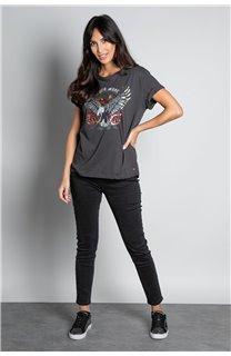 T-Shirt T-SHIRT REBEL Femme W20119W (56648) - DEELUXE