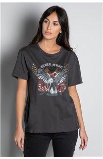 T-Shirt T-SHIRT REBEL Femme W20119W (56649) - DEELUXE