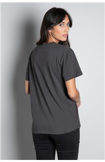 T-Shirt T-SHIRT REBEL Femme W20119W (56650) - DEELUXE