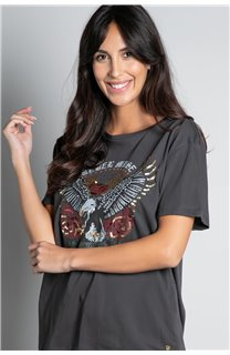 T-Shirt T-SHIRT REBEL Femme W20119W (56651) - DEELUXE