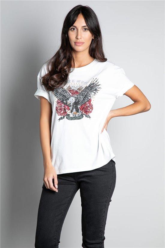 T-Shirt T-SHIRT REBEL Femme W20119W (56652) - DEELUXE