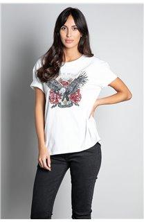 T-Shirt T-SHIRT REBEL Femme W20119W (56653) - DEELUXE