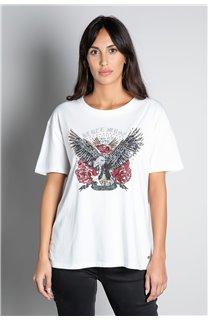 T-Shirt T-SHIRT REBEL Femme W20119W (56654) - DEELUXE