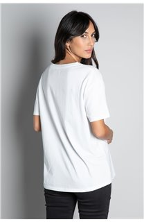 T-Shirt T-SHIRT REBEL Femme W20119W (56655) - DEELUXE