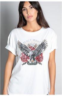 T-Shirt T-SHIRT REBEL Femme W20119W (56656) - DEELUXE