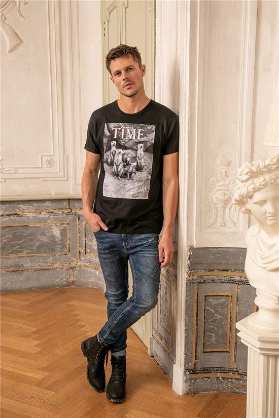 T-Shirt T-SHIRT SURICATE Homme W20150M (56671) - DEELUXE