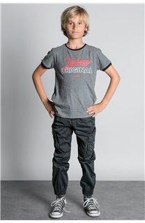 Pantalon PANTALON GARDEN Garçon W207017B (56686) - DEELUXE