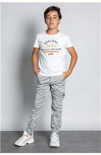 Pantalon PANTALON GARDEN Garçon W207017B (56691) - DEELUXE