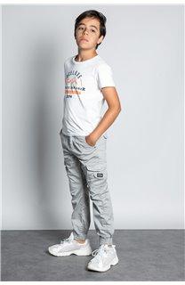 Pantalon PANTALON GARDEN Garçon W207017B (56692) - DEELUXE