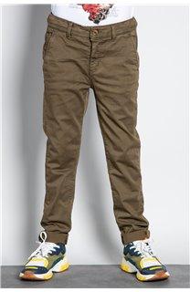 Pantalon PANTALON COTTAGE Garçon W207001B (56837) - DEELUXE