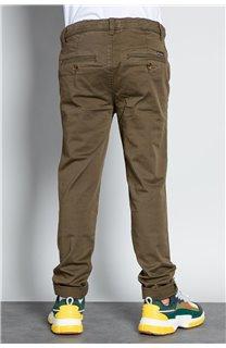 Pantalon PANTALON COTTAGE Garçon W207001B (56838) - DEELUXE