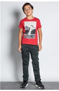 Pantalon PANTALON COTTAGE Garçon W207001B (56841) - DEELUXE