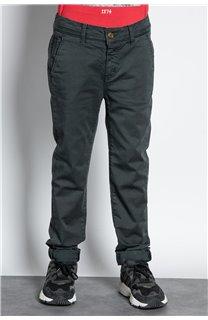 Pantalon PANTALON COTTAGE Garçon W207001B (56842) - DEELUXE