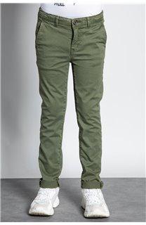 Pantalon PANTALON COTTAGE Garçon W207001B (56847) - DEELUXE
