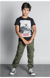 T-Shirt T-SHIRT HELP Garçon W20114B (56871) - DEELUXE