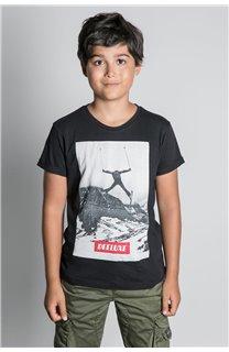 T-Shirt T-SHIRT HELP Garçon W20114B (56872) - DEELUXE